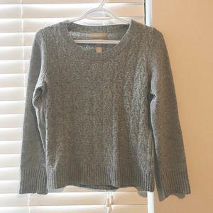Banana Republic Grey Cable Knit Sweater